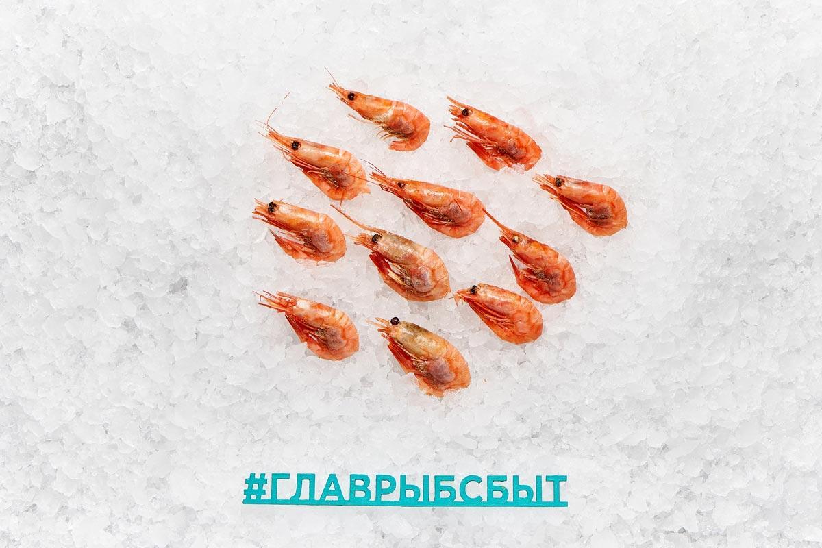 Креветка магаданская 60+ шт варено-мороженая