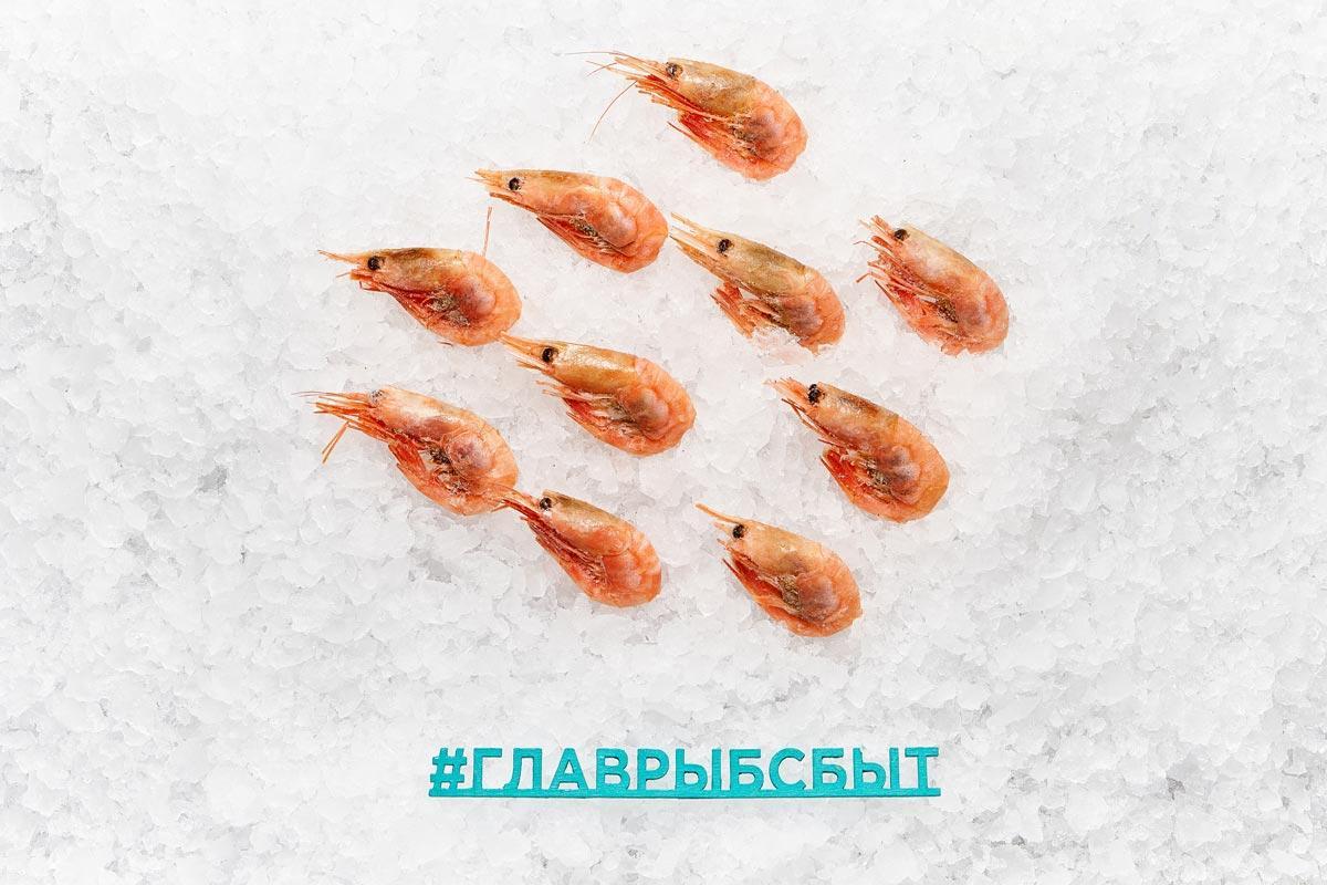 Креветка сахалинская 30+ варено-мороженая