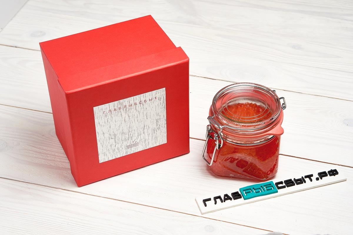 Красная икра в подарочной коробке 500 г