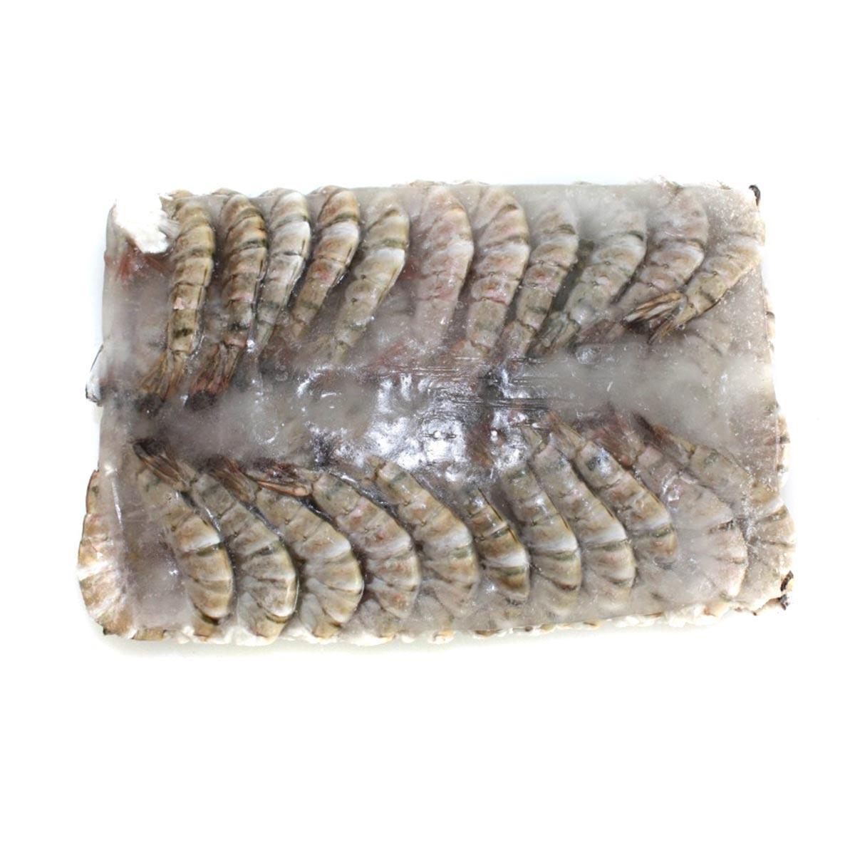 Креветки ваннамей без головы 26-30 шт блочные свежемороженые