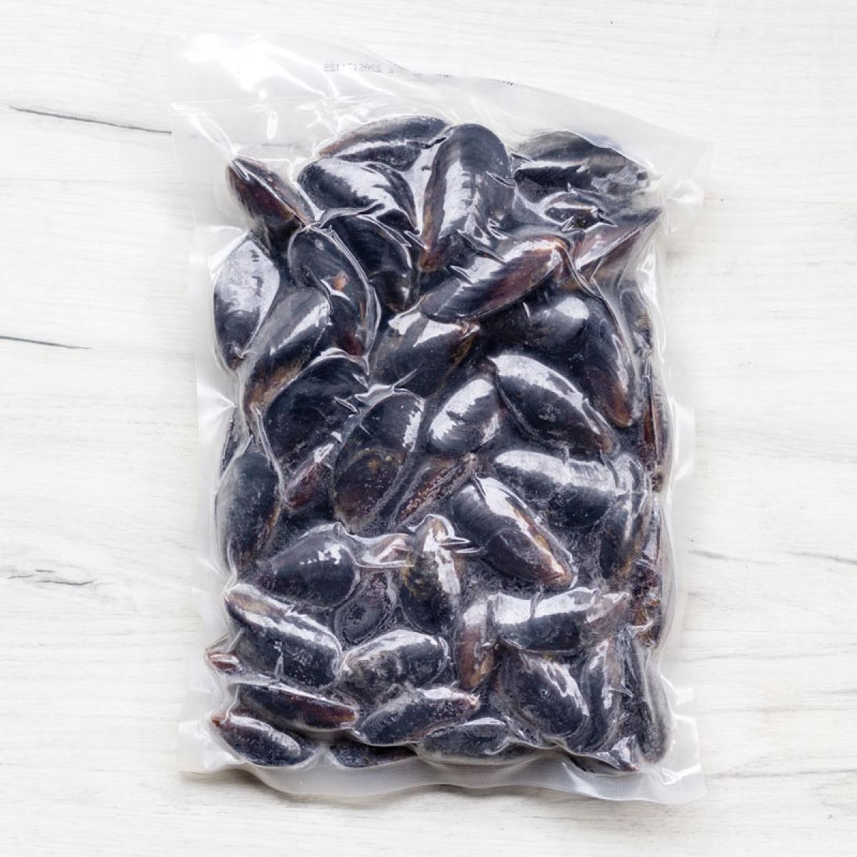 Мидии голубые Чили 40-60 шт варено-мороженые