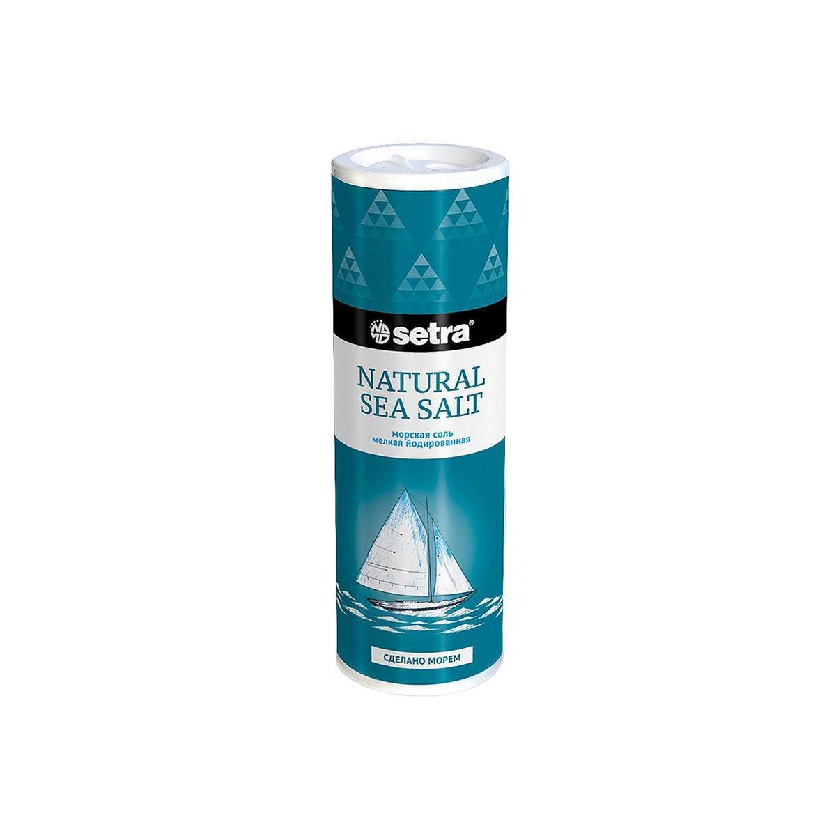 Соль морская йодированная мелкая Setra 250 г