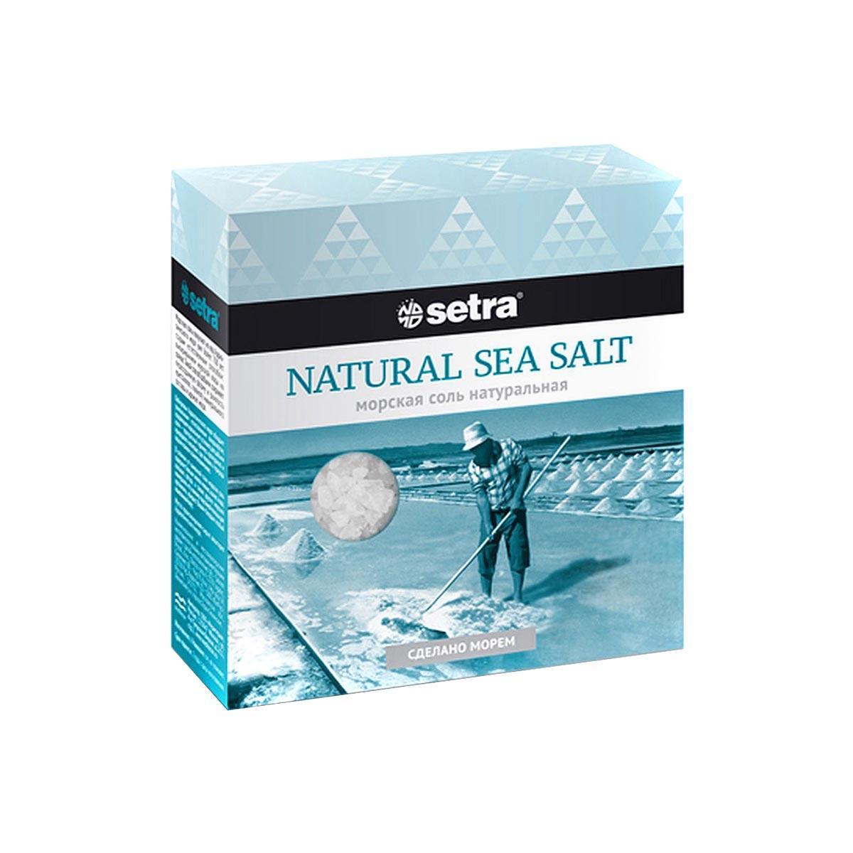 Соль морская крупная натуральная Setra 500 г