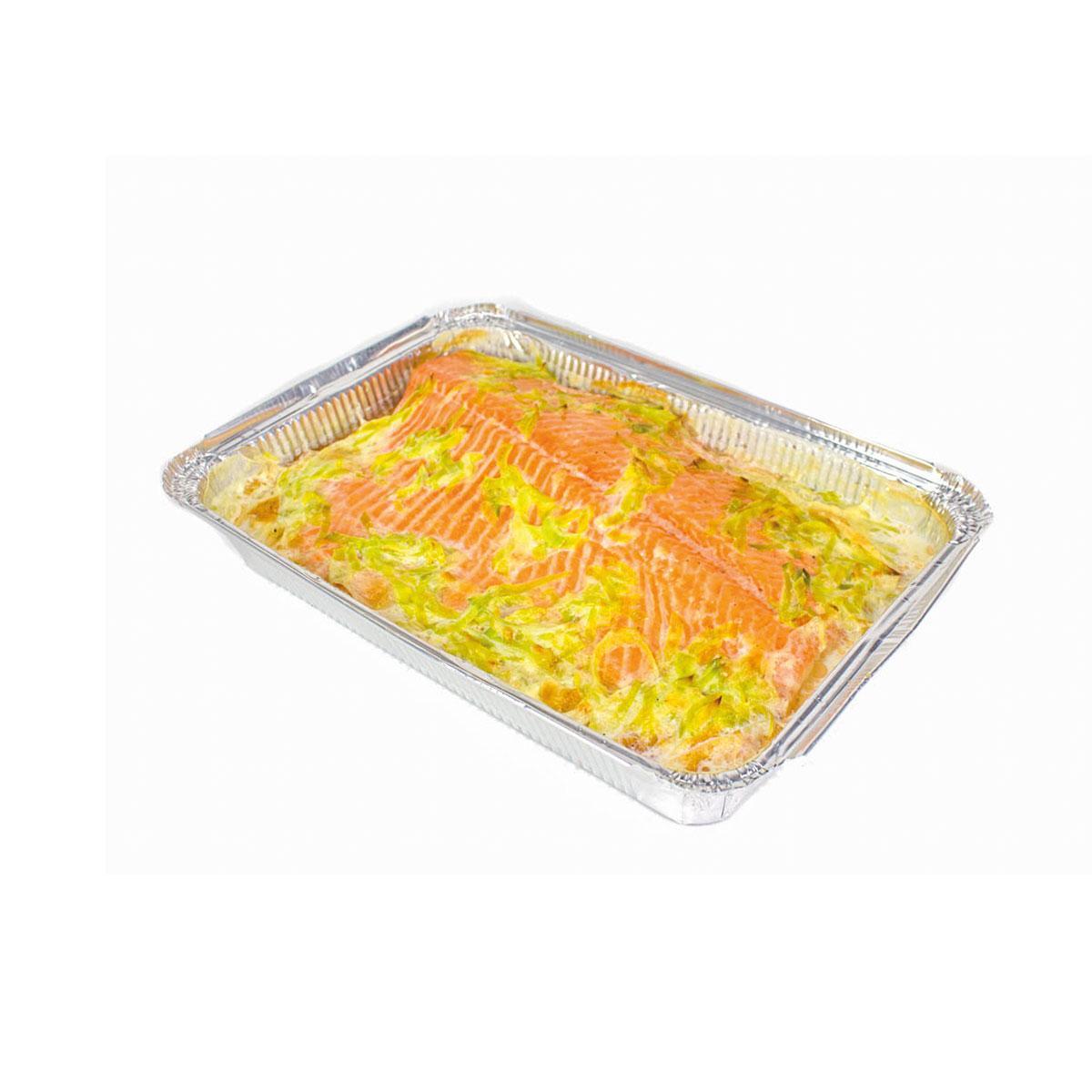 Семга запеченная в сливочном соусе