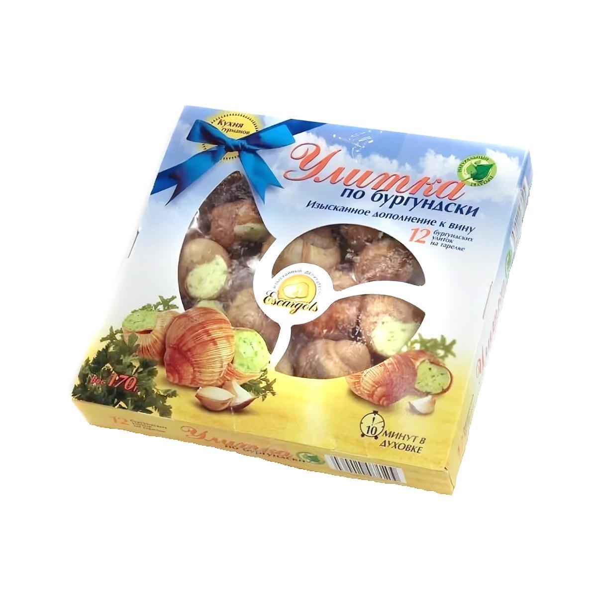 Улитки по-бургундски 12 шт варено-мороженые